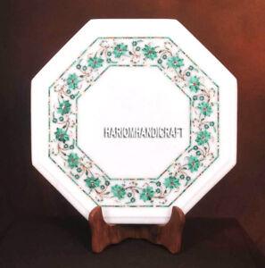 Marble Coffee Kitchen Table Malachite Stone Inlay Floral Arts Garden Decor H3734