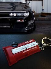 Fits Nissan Style Silvia S13 S14 S15 SR20DET JDM Red Engine cover keychain