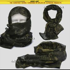 Britsh DPM Camo Tactical Cotton Mesh Scarf Wrap Cover Mask Shemagh Sniper Veil