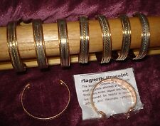 Wholesale Lot x6 copper & magnet healing bracelet bangle rheumatism pain relief
