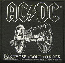 """AC/DC AUFNÄHER / PATCH # 56 """"FOR THOSE ABOUT TO ROCK"""""""