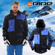 New RIDE Mens Snowboard Ski Jacket -- Wedgewood 10K / 5K Contrast Black & Cobalt