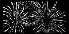 Decorative Garden Metal Fence Screen 'FIREWORKS' Laser cut 1800x900 Corten Steel