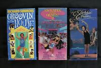 Lot of 3 Richard Simmons VHS Sweatin to the Oldies 2 , Groovin' House Stretchin'