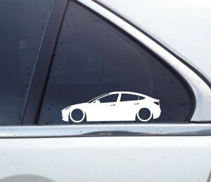 2X Lowered car silhouette stickers - for Tesla Model 3 | stanced L1479