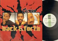 """CAMEO Back And Forth  12"""" Ps, 3 Tracks, Extd Remix/Dub Version/You Can Have The"""