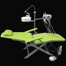 EUR Dental Folding Chair with Turbine & LED Light Air Water Syringe Handpiece DE
