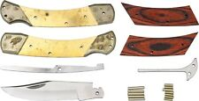 Rough Rider RRCS1 Custom Shop Large Folding Knife Kit Wood Handle Folder