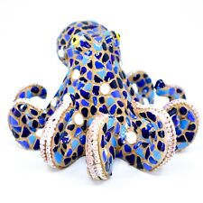Barcino Hand Painted Classic Blue Mosaic Octopus Marine Ocean Figure 34906