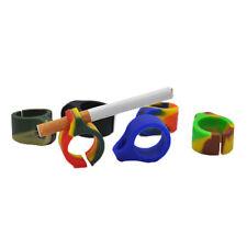 2 X Silicone Ring Finger Hand Rack Cigarette Holder For 7-8mm Regular cigarette