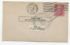 1957 Palos Verdes Estates CA Marineland Rural Station marking on card [4066]