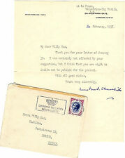 Winston S. Churchill - Typed Letter Signed to Willy Sax, 20 February, 1957