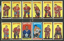 1964-65 TOPPS HOCKEY HIGH GRADE COMPLETE SET 110 EM TO NM-MT UNMARKED CHECKLISTS