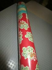 ONE ROLL THE PIONEER WOMAN BELLS & HOLLY MILSTLETOE GIFT WRAPPING PAPER-80 SQ.FT