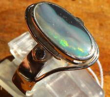 Black Opal 2.5 Karat 950er Silberring Größe 18,4 mm