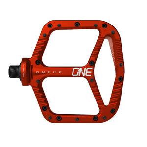 OneUp Components Aluminum platform pedals, red