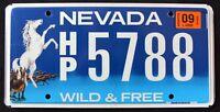 "NEVADA "" WILD & FREE - WILDLIFE HORSE - HORSEPOWER ""  NV Specialty License Plate"