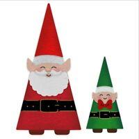 Stanzschablone Dreieck Weihnachtsmann Weihnachten Geburtstag Karte Album Deko