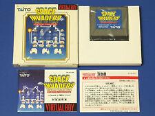 Nintendo Virtual Boy SPACE INVADER Boxed Rare!! Import Japan
