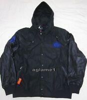 NWT Nike Jordan Precison Destroyer Leather Bomber Varsity Jacket  2XL 577829