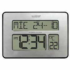 La Crosse Technology C86279 Atomic Full Calendar Clock With Extra Large DIGIT