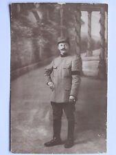 12C1 WWI CPA CARTE PHOTO PORTRAIT POILU 82 e R.A.L. AVEC BRASSARD DE DEUIL 14/18