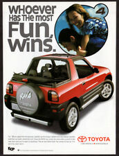 1998 TOYOTA RAV 4 Vintage Original Print AD - Red fun car photo Canada English