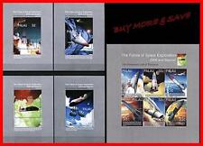 PALAU 2000 FUTURE SPACE EXPLORATION M/S + 4 S/S (5 ITEMS) MNH 2nd ISSUE