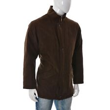 Bugatti Mens Full Zip/Button Front Jacket Short Coat Size 48 Brown Genuine