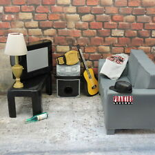 WWE Figure Accessory LIVINGROOM Tv Couch Prop Diorama WEAPON Playset Lot INV6