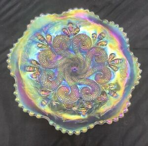 CARNIVAL AWESOME DUGAN WHITE QUESTION MARKS STEMMED CAKE PLATE