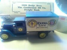 1929 Dodge Bros. The Continental Oil Co. Freight Bank Die Cast Truck  NIB