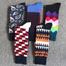 5 Pairs Men's Cotton Socks Hit Geometric Pattern Sock Set Colorful Winter New