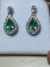 d501bf1504d33 Emerald White Gold 18 Carat Fine Earrings for sale | eBay