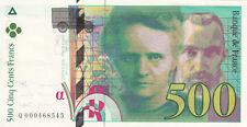 BILLET BANQUE 500 Frs pierre et marie CURIE 1994 SUP 545