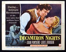 DECAMERON NIGHTS 1953  Joan Fontaine, Louis Jourdan LOBBY CARD #7
