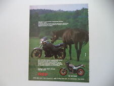 advertising Pubblicità 1984 MOTO HRD 125 WH ROAD