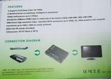 HDMI Mini 2x1 HDMI Switch 2 Inputs 1 Output mit Fernbedienung