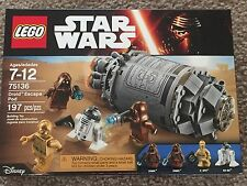 Lego  Star Wars 75136 Droid Escape Pod   NEW 4 Minifigure sealed jawa r2 d2 c3Po