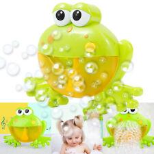 Frog Bubble Machine Musical Bubble Maker Baby Children Bath Shower Toy 12 Songs