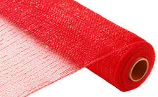 20 PIECE CASE PACK- THE ORIGINAL DECO POLY MESH - Metallic Red 21 Inch Roll NEW!