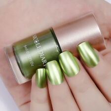 9ml Metallic Mirror Nail Art Polish Olive Gold Varnish Decor Tools NICOLE DIARY