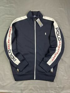 Polo Ralph Lauren Double Knit Tech Spell Out Zip Up Track Jacket Large