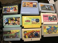 9 Assorted Famiclone And Famicom Ghost N Gobblins Dragonball Z 2 Ikari Warriors+