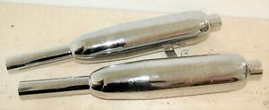 Schalldämpfer Silencer Pair 1960-62 Triumph 70-4118/9 E4118 E4119 Duplex frame