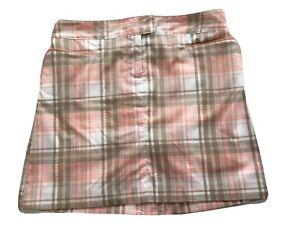 IZOD XFG Performance Golf Skort Skirt Shorts Swingflex Waist Plaid Sz 2 NWT $62