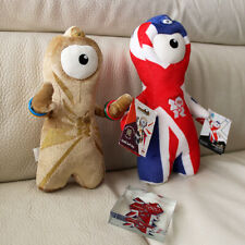 LONDON 2012 OLYMPIC MASCOT SOUVENIRS 2 WENLOCK SOFT TOYS 1 CRYSTAL PAPER WEIGHT
