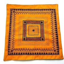 Embroidered Suzani Pillow Cover Cushion Cover Orange Vintag Ethnic Bohemian New