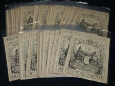 1889 PUNCH MAGAZINE LOT OF 39 ISSUES - NICE ILLUSTRATIONS & ADS - O 2561B