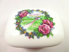 Heritage House Porcelain Music Box house Garden Purple Rose We've just Begun